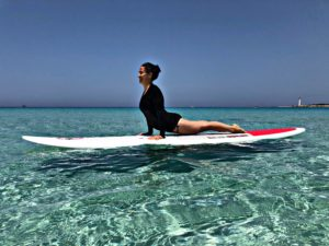 Paddleboard jóga, Nela Perglová