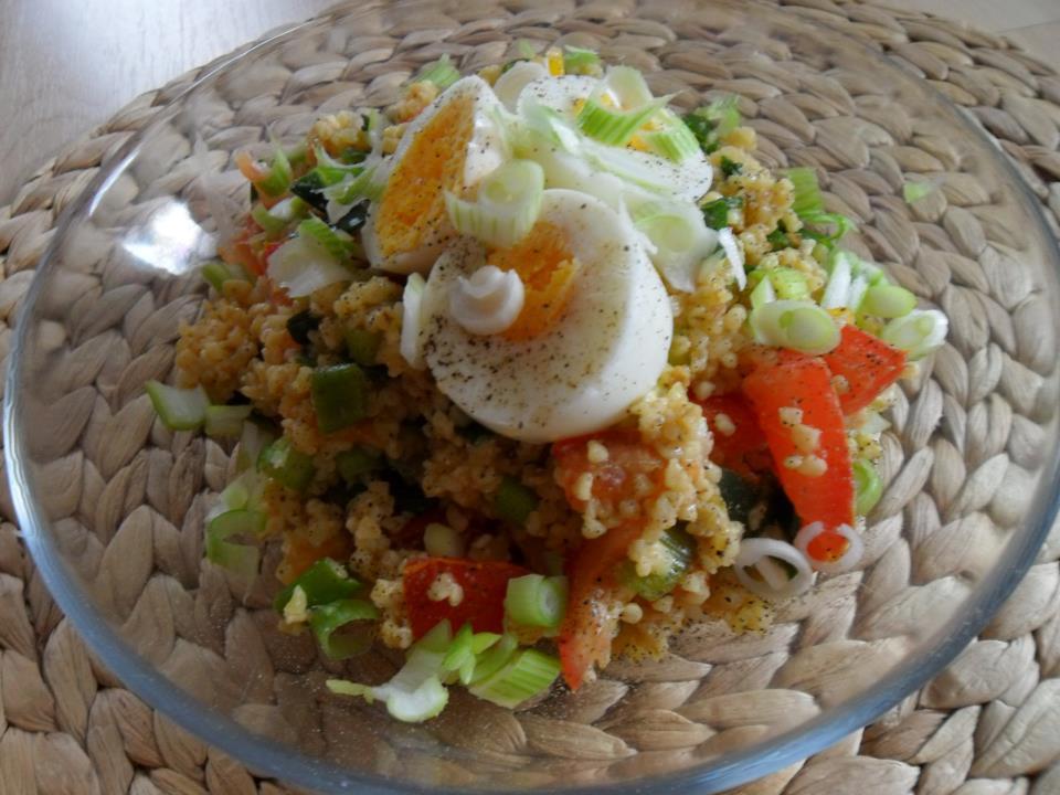Tabouleh s vejcem